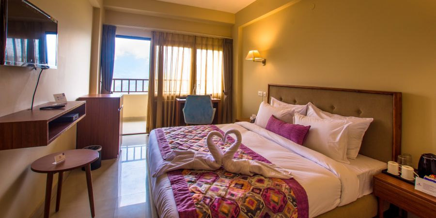 alt-text deluxe with balcony at Mount Himalayan Hotel and Spa 2