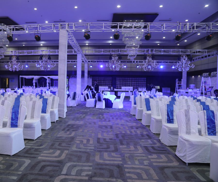 alt-text event decorations at Narayani Heights hotel, banquet hall in ahmedabad 10
