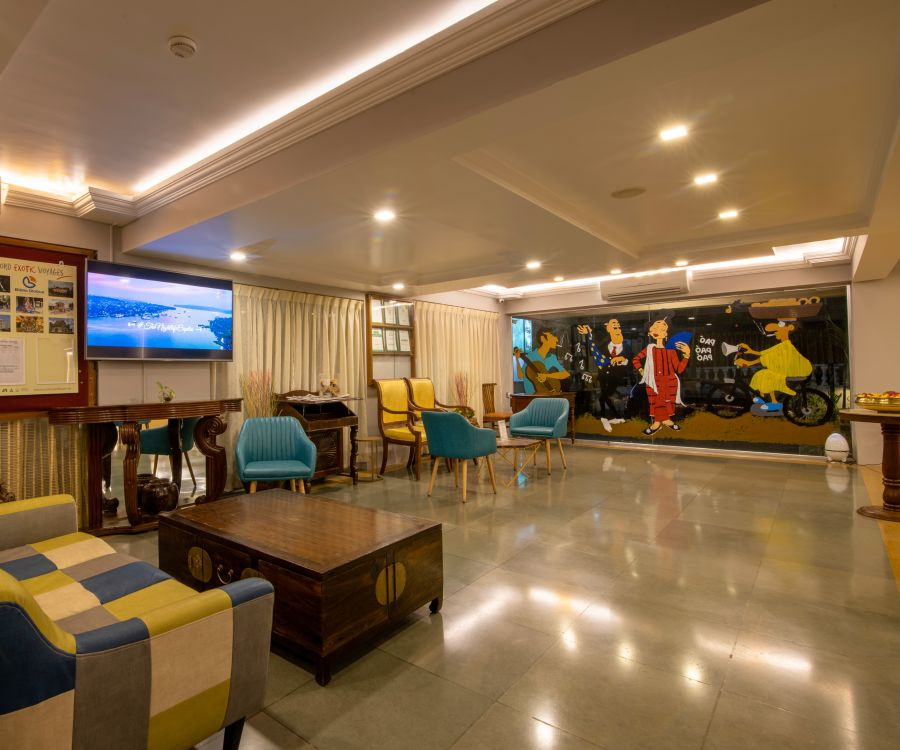 alt-text Best resorts in goa  Resort in Calangute  North Goa  suites in Goa  Calangute Beach  hotel rooms in North GoaQuality Inn Ocean Palms - Lobby