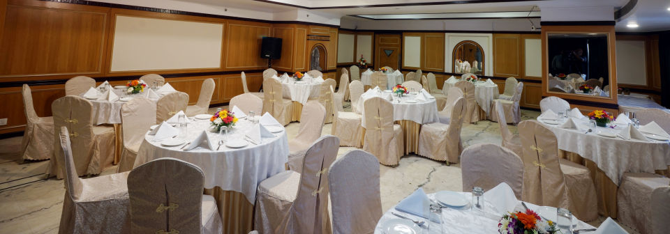 Banquet Hall at Hotel Daspalla Executive Court Vishakapatnam