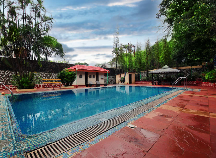 alt-text Swimming Pool Zara s Resort Khandala Hotels near Lonavla Railway Station 2