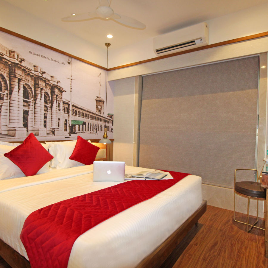 Bedroom 2, Serviced Apartments in Khar, Rooms in Khar, Hotels in Khar
