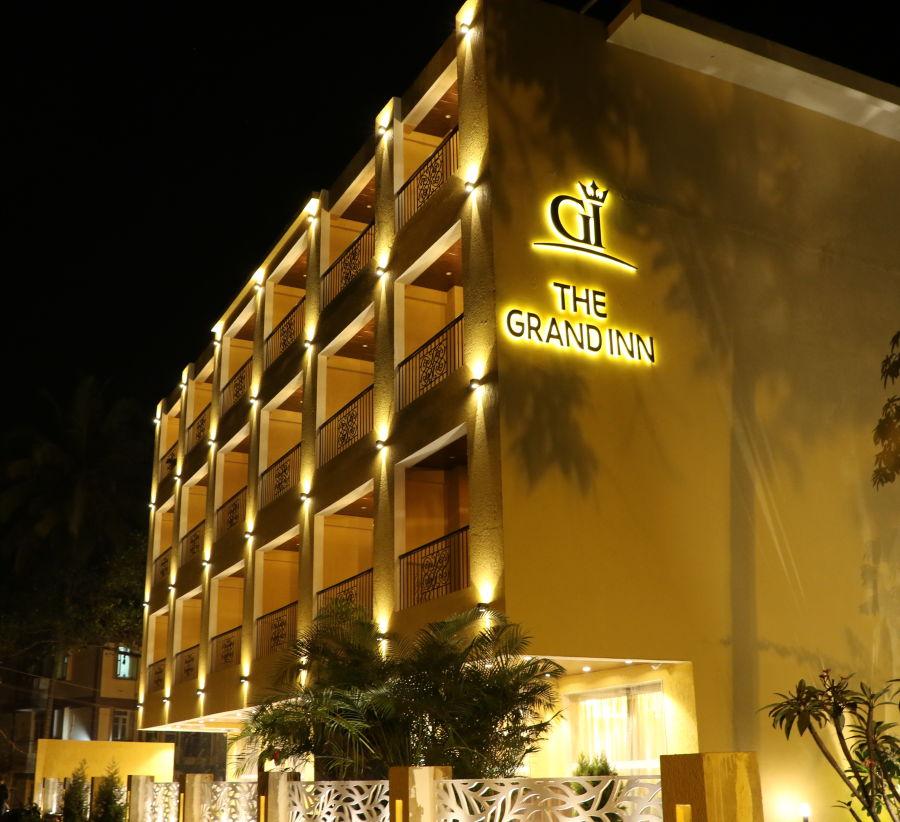 alt-text Facade, AMARA GRAND INN CALANGUTE, Resort near Calangute Beach, Goa beach resort