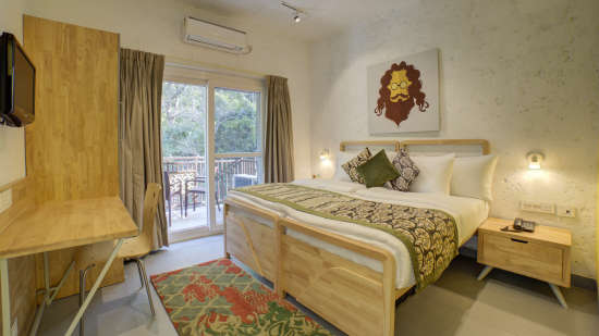 Deluxe Room Facing Forest 3 at The Hideaway Bedzzz Rishikesh