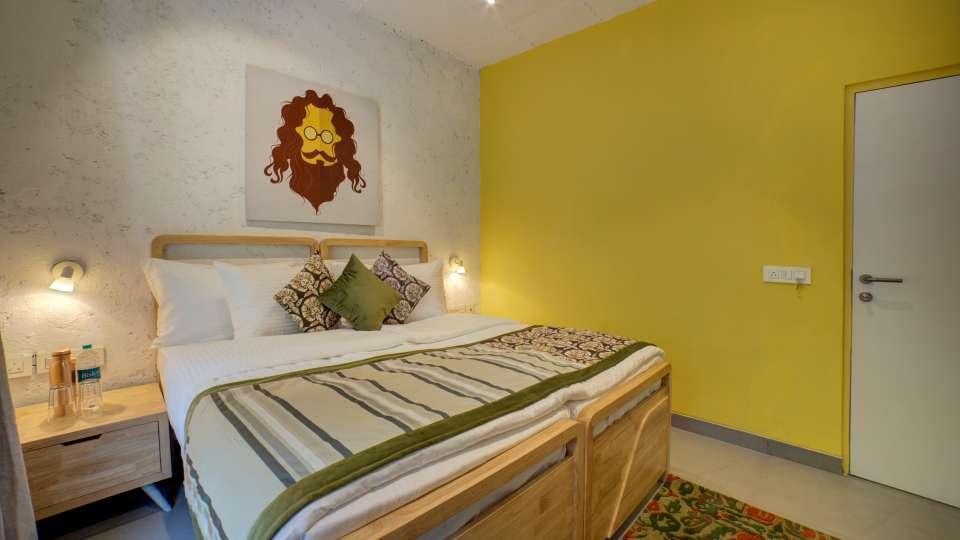 Deluxe Room 4 at The Hideaway Bedzzz Rishikesh