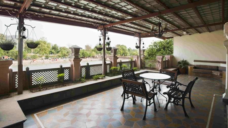 The Haveli Hari Ganga  Haridwar Sitting Area at The Haveli Hari Ganga Hotel in Haridwar
