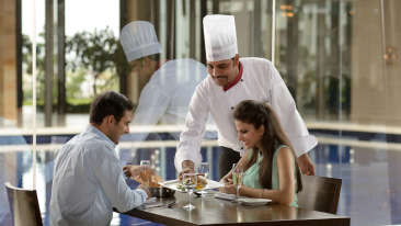 Enjoying Delicacies at Sarovar Marasa Sarovar Premiere Tirupati Best Hotels in Tirupati Sarovar Hotels 4