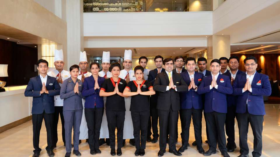 Staff at Crystal Sarovar Premier Agra 5 star hotels in Agra