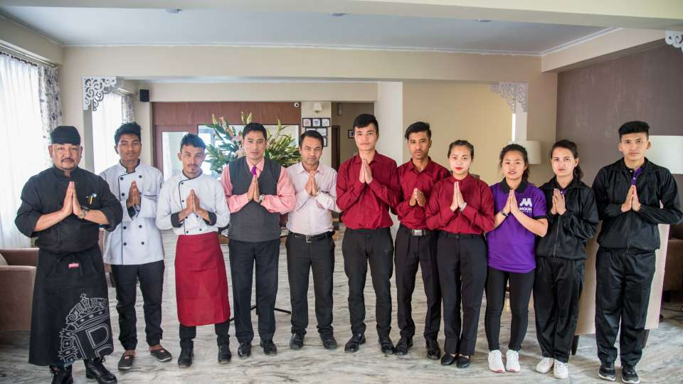 reception at Mount Himalayan Hotel and spa 2