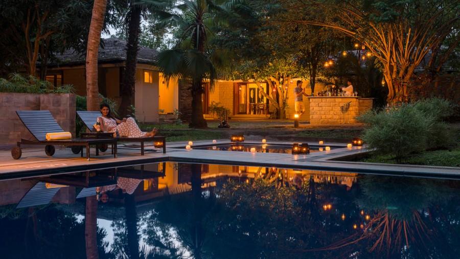 Poolside Restaurant at The Serai Kabini, Kabini Resort, The Serai Kabini, Best Riverside Resort In Kabini