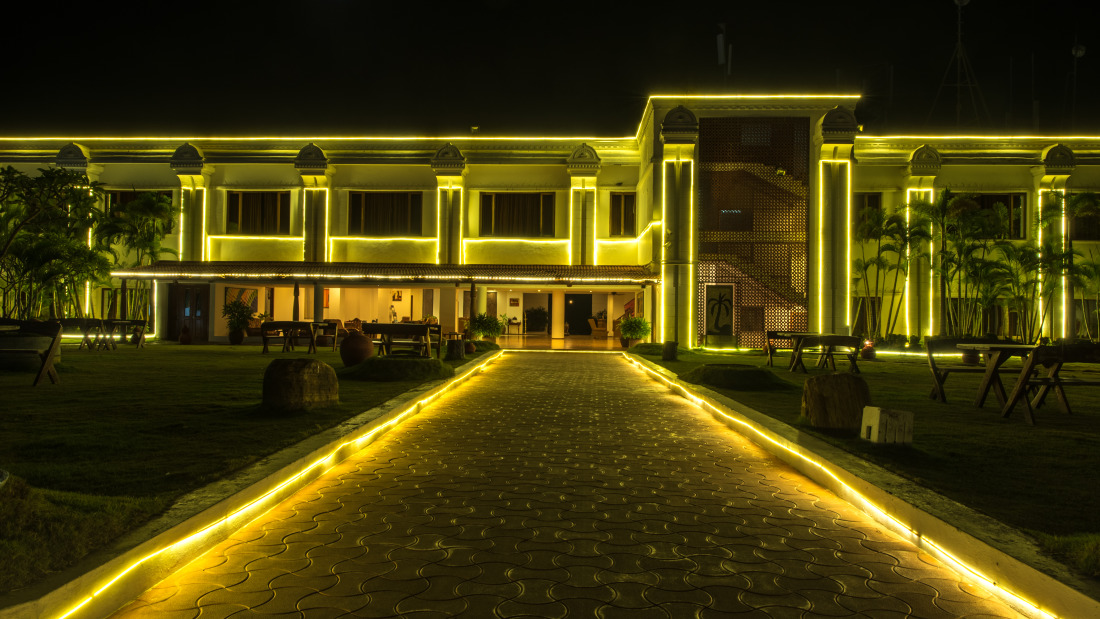 Night View of Chariot Beach Resort in Mahabalipuram 1