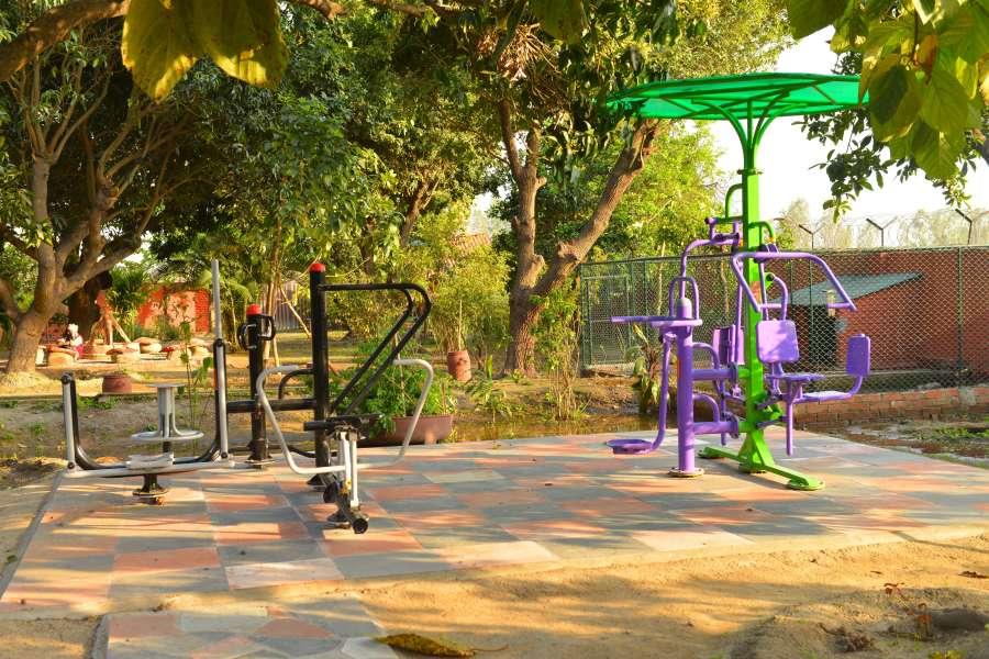 alt-text The Homestead Homestay in Corbett Ramnagar homestay swimming pool 13