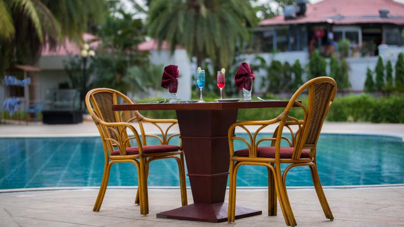 romance by the pool at Chariot Beach Resort in Mahabalipuram 4