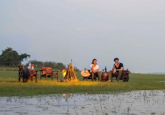 DSC5845Bonfire at Kabini Riverbank,  Kabini Resort, The Serai Kabini, Best Riverside Resort