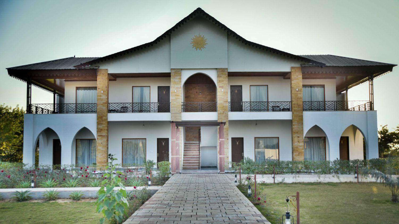 Facade of Clarks Resort Abhyaran