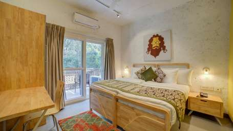 Deluxe Room Facing Forest at The Hideaway Bedzzz Rishikesh