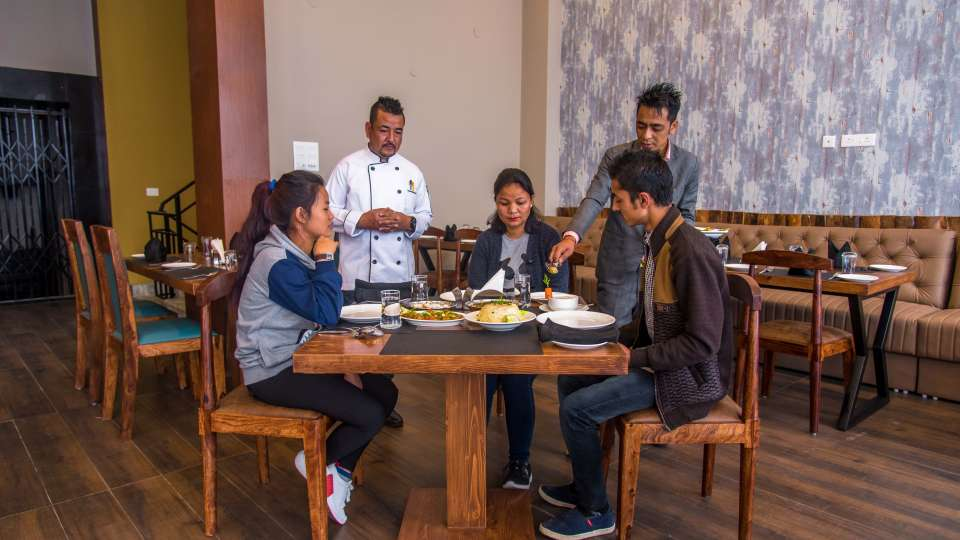 restaurant at Mount Himalayan Hotel and Spa 9