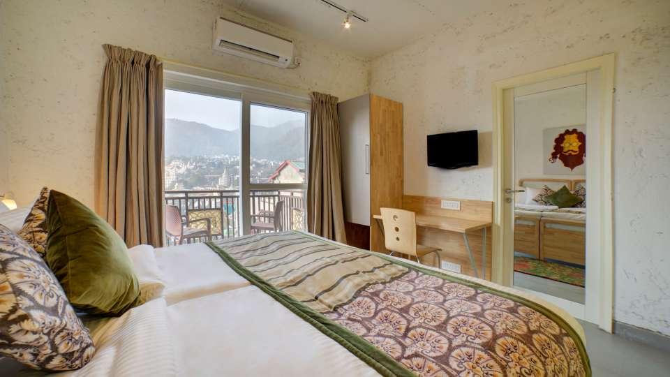 Deluxe Room 1 at The Hideaway Bedzzz Rishikesh