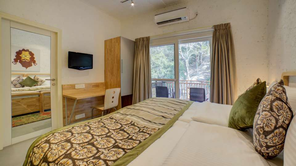 Deluxe Room Facing Forest 2 at The Hideaway Bedzzz Rishikesh