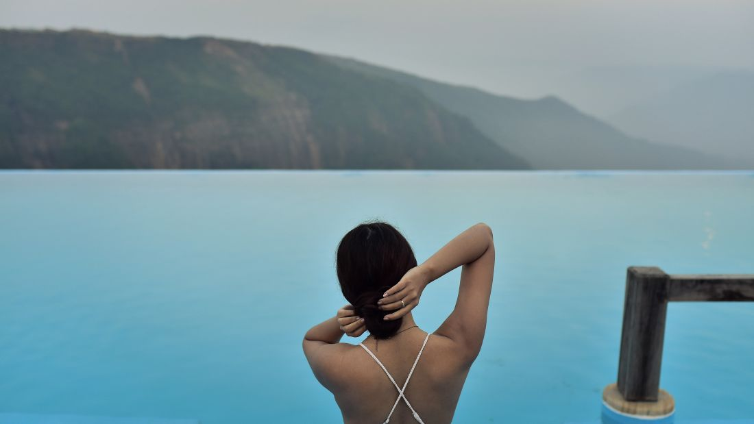 Infinity Pool in Cherrapunji, Polo Orchid Resort, Cherrapunji-5