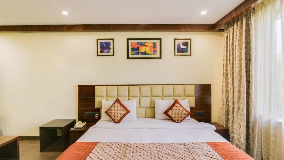King size beds at our hotel in Nehru Place, BlueStone Hotel, Nehru Place, New Delhi