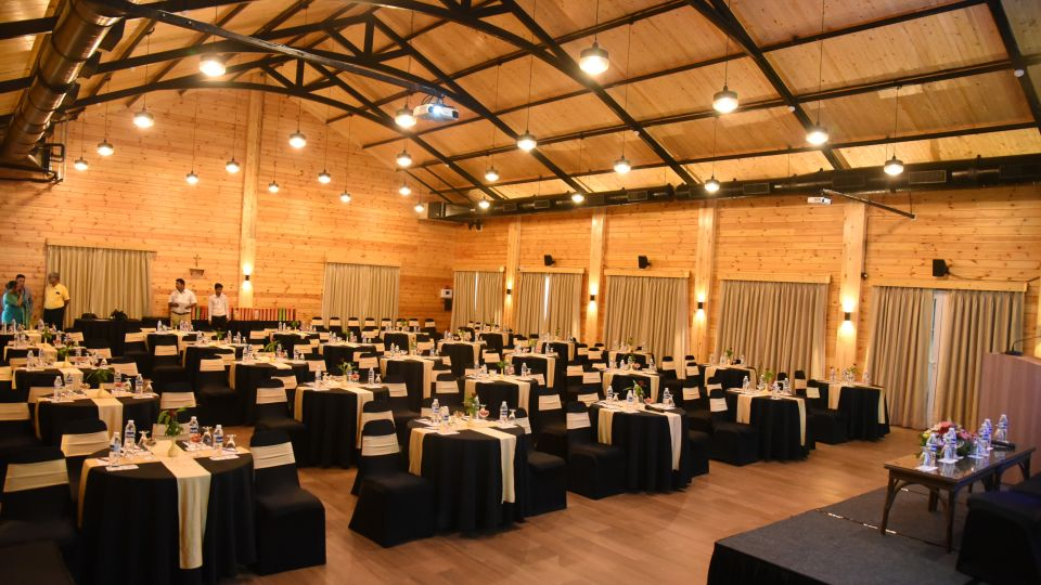 Cluster Style Seating with Round Tables Chairs Capacity - 150 PAX
