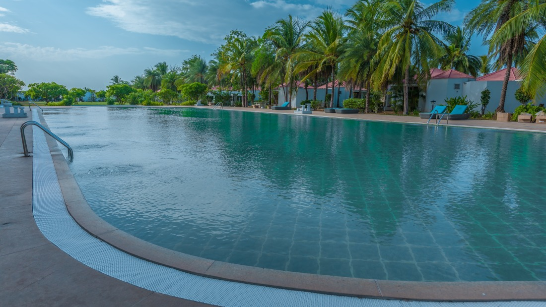 Swimming pool at Chariot Beach Resort in Mahabalipuram 6