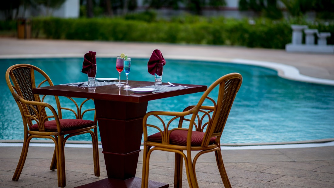 romance by the pool at Chariot Beach Resort in Mahabalipuram 3