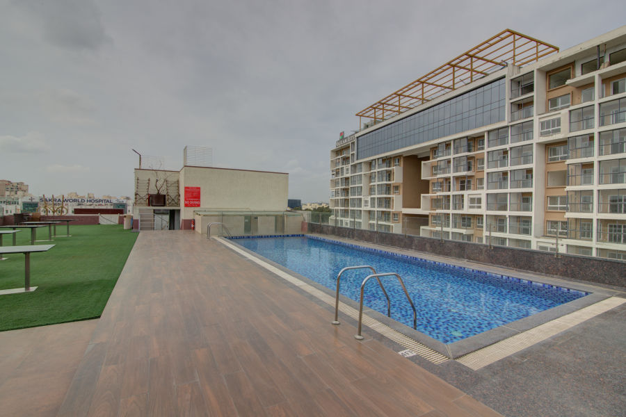 alt-text business hotel in Bangalore Terrace Pool   Icon Premier, Devarabisanahalli 1