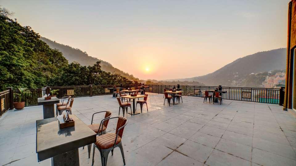 Evening Shot - Terrace at The Hideaway Bedzzz Rishikesh