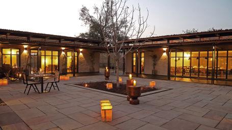Courtyard,  Bori Safari Lodge, Betul, Resort near Bori Wildlife Sanctuary