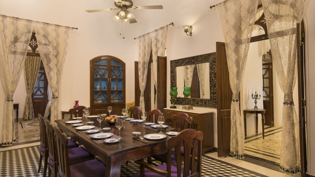 Dining at Bara Bungalow South Goa 5