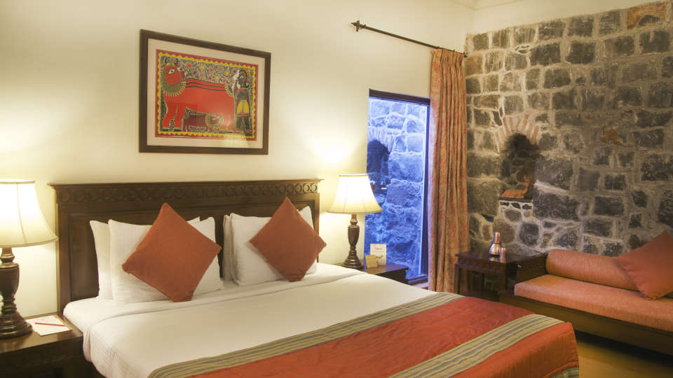 Premium Hill View Room of  Fort Jadhavgadh Heritage Resort Hotel Pune