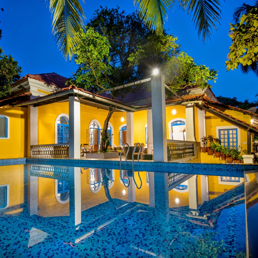 Swimming pool at Bara Bungalow South Goa 1, Villas in South Goa, South Goa Villa
