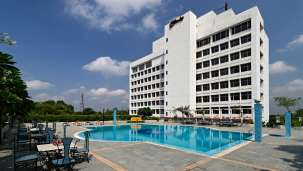 Pool at Clarks Avadh, hotel near gomti river in Lucknow, Luknow Hotel