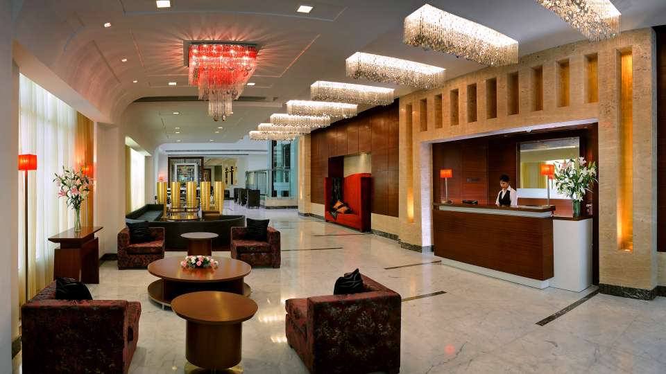 Lobby at  Park Inn, Gurgaon - A Carlson Brand Managed by Sarovar Hotels, gurgaon hotels 10