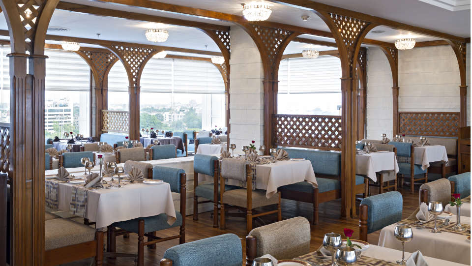 Falaknuma Rooftop Restaurant in Jaipur at Clarks Avadh 5 Star Hotel in Lucknow srd4