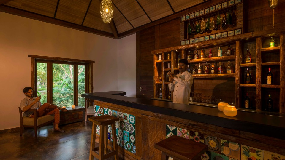 Outpost the Bar at The Serai, Kabini Resort, The Serai Kabini, Best Riverside Resort In Kabini