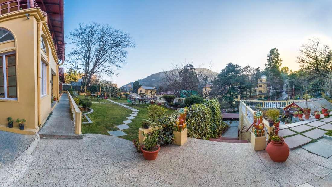 Heritage Hotels of Nainital  Garden and entrance