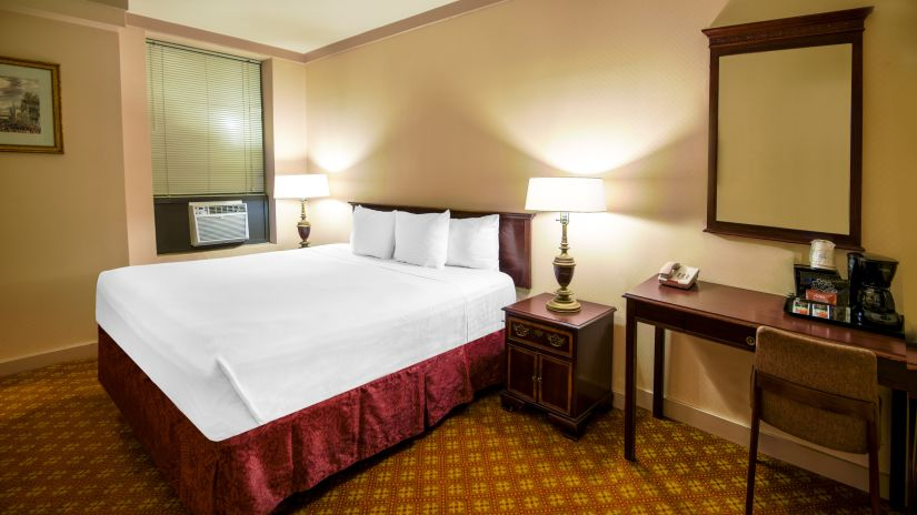 Enjoy a comfortable stay at the King size rooms at Night Hotels Broadway