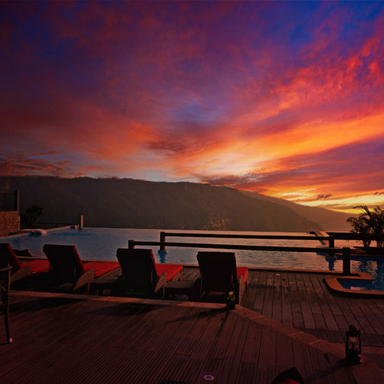 Sunset from Polo Orchid Resort