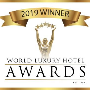 2019 Hotel Awards Winner logo Black text White Background