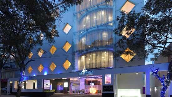 Facade of blupetal hotel