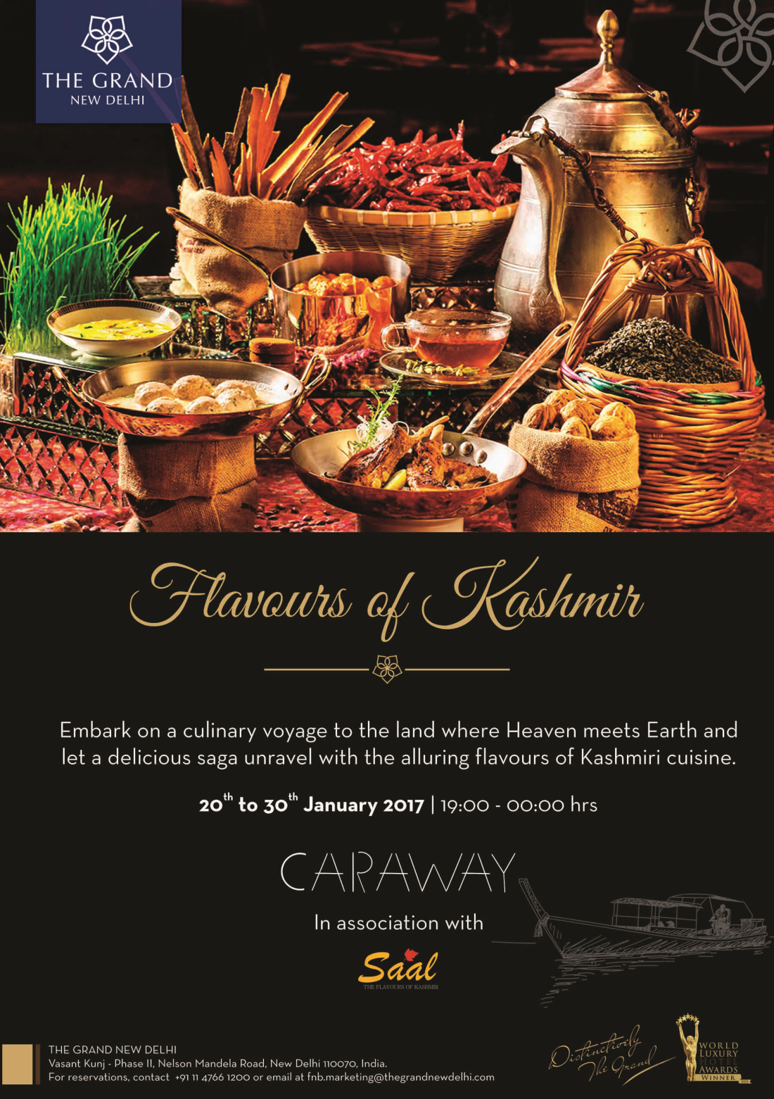 The Grand New Delhi New Delhi Kashmiri food A5 front The Grand New Delhi