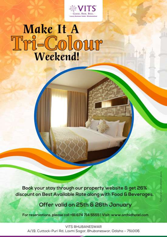 Tricolour stay package A5 Emailer