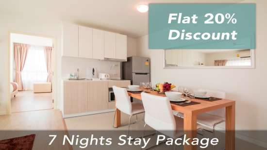 20 discount on 7 nights stay at Hua hin holiday apartments First choice suites