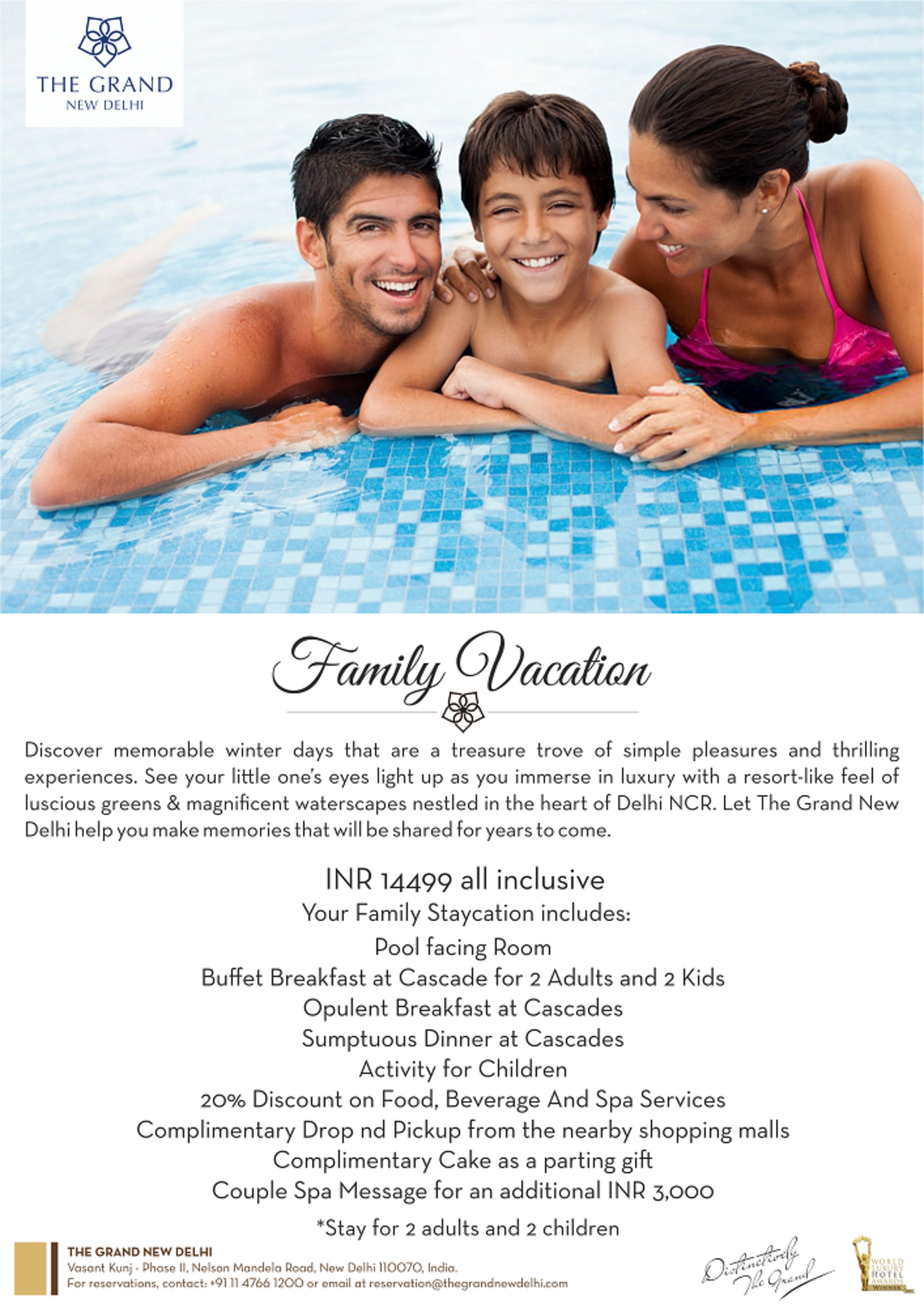 Family Staycation at Hotel The Grand New Delhi