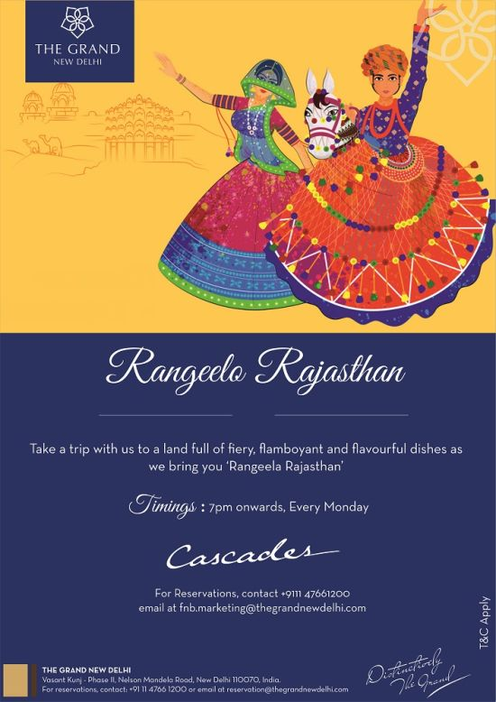 Cascades Rajasthan Dinner Themes1 at The Grand New Delhi