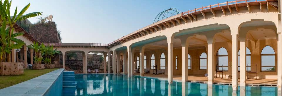 Swimming Pool_ Facade_Tijara Fort Palace_Hotel In Rajasthan_ Palace Hotel In Rajasthan 13
