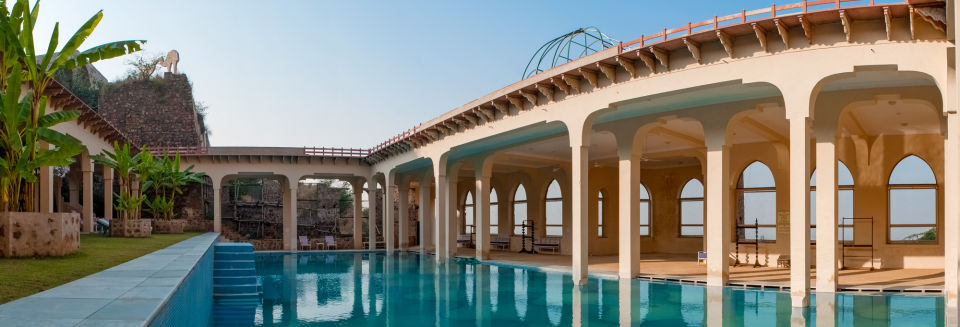 Swimming Pool_ Facade_Tijara Fort Palace_Hotel In Rajasthan_ Palace Hotel In Rajasthan 13